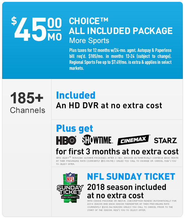 DIRECTV CHOICE™ Package | 800-480-0872 | Order DIRECTV