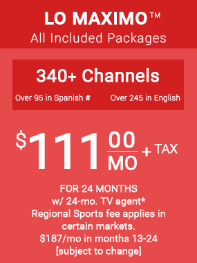 DIRECTV LO MÁXIMO™ Package | 800-480-0872 | Order DIRECTV