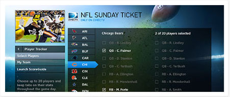 nfl sunday ticket player tracker