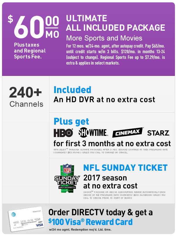 DIRECTV ULTIMATE Package | 800-480-0872 | Order DIRECTV